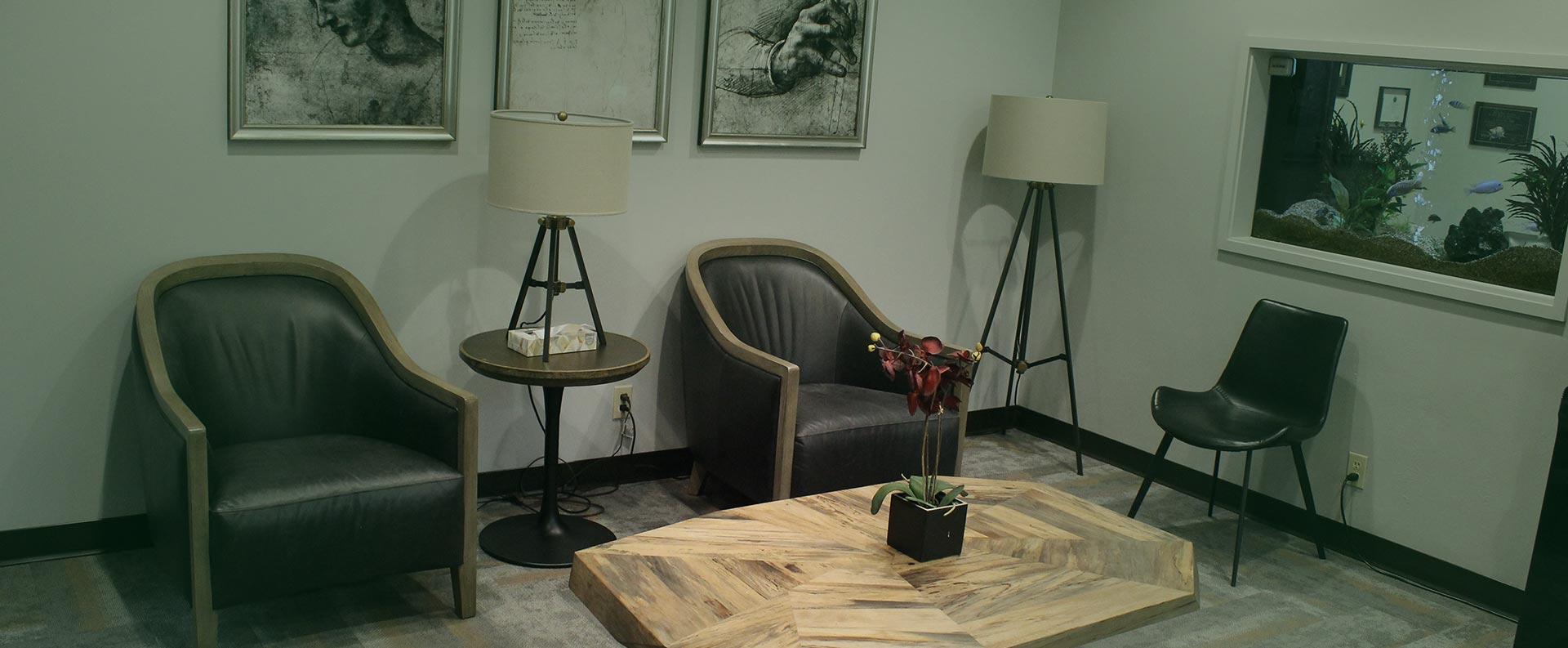 Waiting room of greenbelt dental