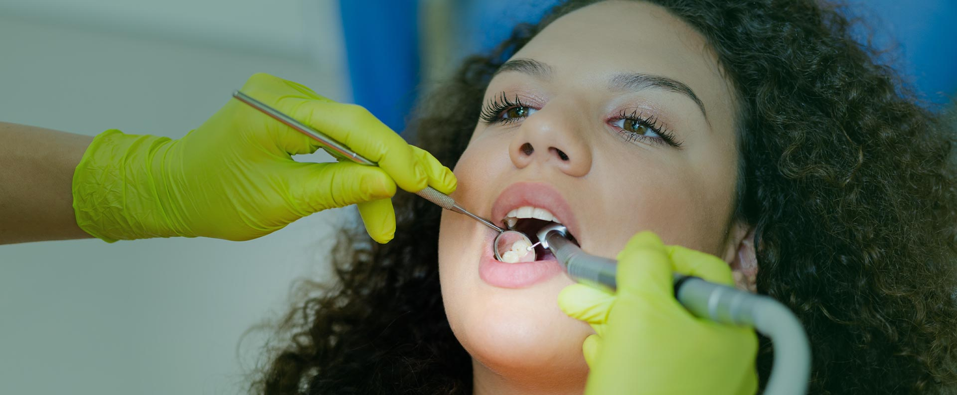 Woman at the dental clinic